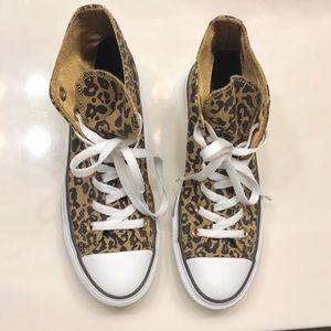 Converse Leopard Print High Tops